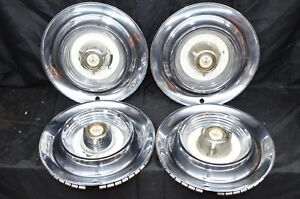 1958 Chrysler Imperial Hubcap Wheel Cover Hub Cap Set Vintage Chrome Hubcaps 58