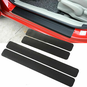 For Honda 3d Carbon Fiber Door Plate Sill Scuff Cover Anti Scratch Sticker 4pcs