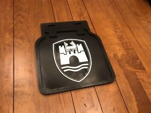 Vintage Volkswagen Mud Flaps In Black With White Castle Beetle Bus