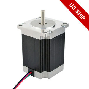 Nema 23 Stepper Motor 269oz in 2 8a 76mm 4 wire For Cnc Mill Lathe Router Robot