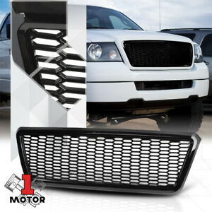Glossy Black Abs Honeycomb Mesh Front Bumper Grille grill For 04 08 Ford F150