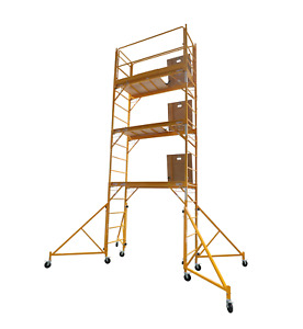18 Foot Scaffold Hatch Platform Tower With Safety Rail And 32 Outriggers