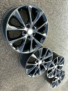 20 Dodge Durango Black Grand Oem Factory Stock Wheels Rims 5x127 Srt Limited