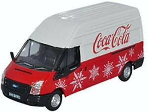 OXFORD 1/76 Ford Transit MK 5 LWB High Coca Cola Xmas Finished Product