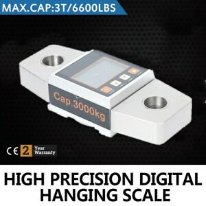 3t 6600lbs Crane Scale Digital Hanging Scale Without Hook Stable Easy Operate