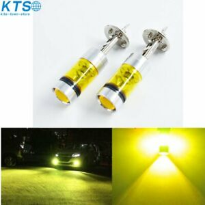 2pcs H1 4300k Yellow 100w Led 20 smd Projector Fog Driving Drl Light Bulbs