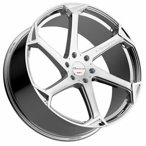 24 Giovanna Dalar X Chrome 24x10 Concave Wheels Rims Fits Chevrolet Tahoe 07 15