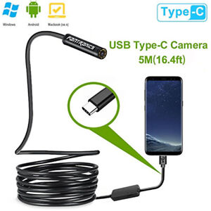 Pro 3 In 1hd 5m 8led Endoscope Borescope Inspection Snake Camera For Android