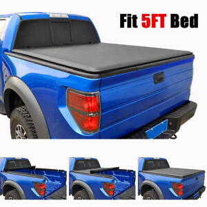 Soft Vinyl Tonneau Cover For Toyota Tacoma Crew Cab 06 19 Pickup Truck Bed 5ft