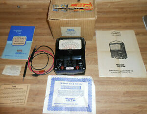 Vintage Eico 566 Vom Multimeter Volts Amps Ac Dc Low Ohm Meter W Box