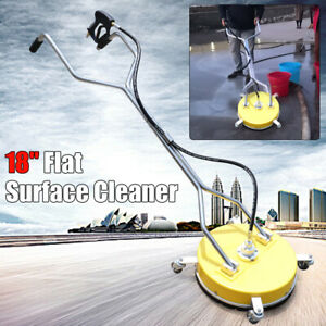 18 Flat Surface Cleaner Hot Cold Water Power Pressure Washer Concrete Driveway