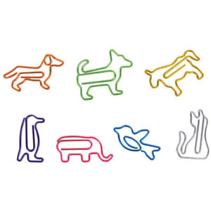 Colorful Paper Clips Cute Animal Shape Bookmark Clips For Office School Supplies