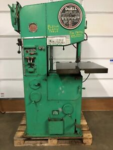 Doall Vertical Bandsaw For Metal Cutting Model 16 2