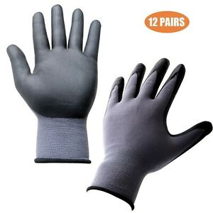 Safety Gloves For Work 12 Pairs Nitrile Coated Work Gloves For Construct New