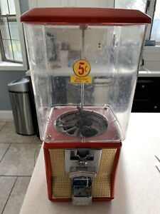 Original Northwestern Model 60 Gumball Candy Bulk Vending Machine 5 Cents Key