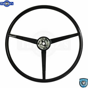 65 66 Ford Mustang Correct 15 Reproduction O E Style Steering Wheel Black