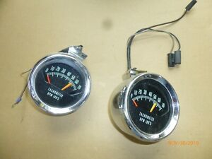 Two Real Gm Knee Knocker Tachometer 1966 Chevelle Malibu Ss 396 Big Block L79