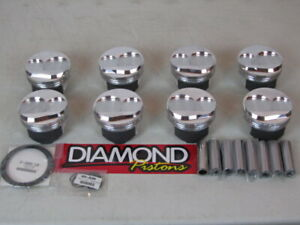 New Diamond 4 125 Domed 15 Deg Pistons W pins Sbc Drag Race Sprint Stock Car Ad