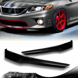For 2013 2015 Honda Accord 2 dr Hfp style Painted Black Front Bumper Spoiler Lip