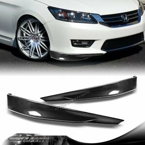 For 2013 2015 Honda Accord 4dr Hfp style Carbon Style Front Bumper Splitter Lip
