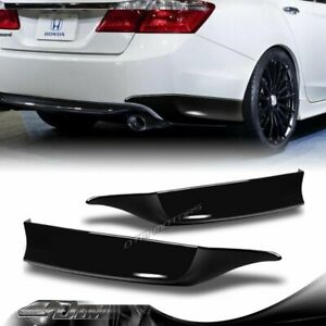 For 2013 2015 Honda Accord 4 dr Hfp style Painted Black Rear Bumper Spoiler Lip