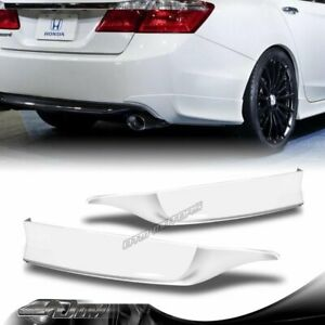 For 2013 2015 Honda Accord 4 dr Hfp style Painted White Rear Bumper Spoiler Lip