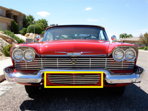 1958 Plymouth Fury Stainless Steel Lower Front Valance Trim Kit Christine Nrs