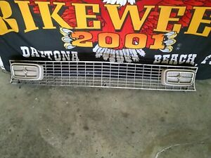 1970 1977 Maverick Grabber Grille Complete With Lights Lamps Brackets Very Nice