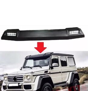 Mercedes Benz W463 G Class Front Roof Spoiler With Led Drl Primed 2002 2017