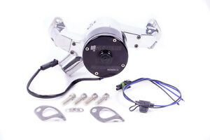 Meziere Polished Alum Hi flow 300 Series Electric Water Pump Kit Bbc P n Wp300up