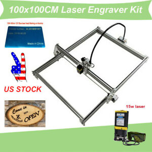 100x100cm Laser Engraver Kit Router Engraving Machine 15w Laser Module Us Stock
