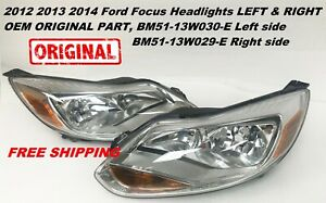 For 2012 2013 2014 Ford Focus Headlights Head Lamps Left right Pair Original