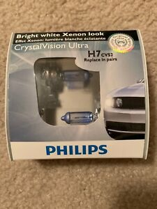 Philips H7 Crystal Vision Ultra 2 Pack 12972cvs2 Bulb New