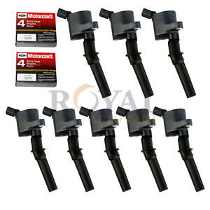 8 Ignition Coils And Motorcraft Spark Plug Sp479 Fits Various Ford Lincoln 5 4ll