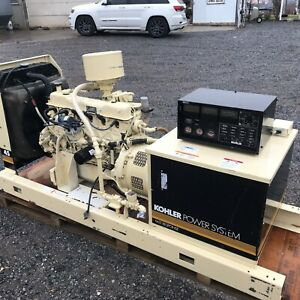 40kw Kohler Natural Gas Open Generator Tested And Serviced