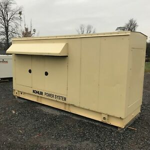 115 Kw Kohler Natural Gas Encl Generator Serviced And Tested