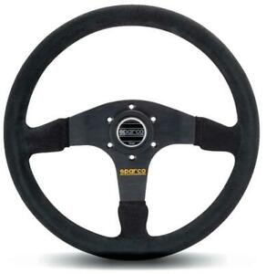 Sparco R 375 Competition Black Suede Steering Wheel 350mm 015r375psn Authentic