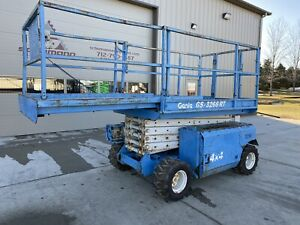 2000 Genie Gs3268 Rough Terrain 4x4 Scissor Lift 32ft Gas Lp Iowa