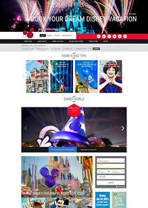Established Disney World Disneyland Vacation Travel Affiliate Website For Sale
