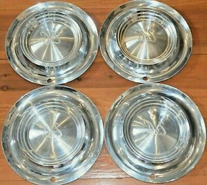 1955 55 Desoto Firedome Hubcaps Hub Cap Wheel Covers Used Set Of 4 Four