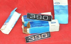 Nos Genuine 1969 70 Ford Mustang 390 Hood Scoop Ornament Emblem C9zz 16b21 a