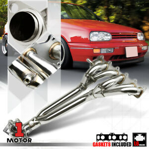 Stainless Steel Exhaust Header Manifold For 99 05 Vw Jetta Golf Mk4 Vr6 12v 6cyl