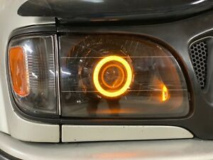 2001 2004 Toyota Tacoma Retrofit Prebuilt Headlight Led Rgb Angel Eyes Halo