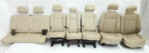 Complete Set Of Seats 3 Rows Bucket Leather Blemish Oem 2004 04 Aviator R318920