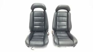 1992 Cadillac Allante Black Pair Leather Seats Oem