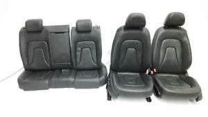 Full Set Of Audi Coupe Seats Black Leather 2008 2013 Audi A5 Oem Front