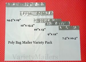 15 Poly Bag Mailer Variety Pack 5 Medium To Large Size Shipping Envelope Bags