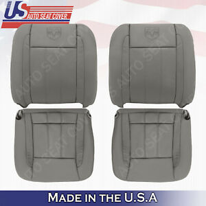 2006 2007 2008 2009 Dodge Ram Laramie Front Bottoms Tops Leather Seat Cover Tan