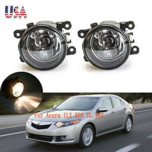 Pair For Acura Tsx 2011 2012 2013 2014 Tl 2012 13 2014 Ilx Rdx Fog Lights Lamps