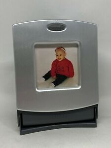 Rolodex Business Card File Metal Photo Frame With Blank Cards New